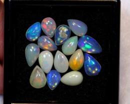 NR~ 7.73ct Pear Mix Size Welo Opal Parcel Lot