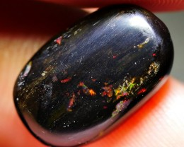 3.80 CRT COMMON RED FIRE COLOR POLISHED WOOD FOSSIL INDONESIAN OPAL