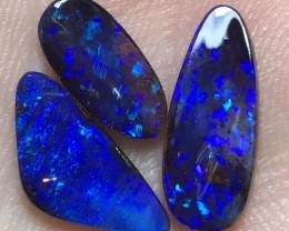 6.9cts Boulder Opal Stone Parcel. 3 pcs AD428