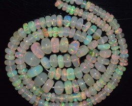 32.20 Ct Natural Ethiopian Welo Opal Beads Play Of Color