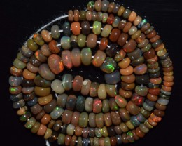 42.00 Ct Natural Ethiopian Welo Opal Beads Play Of Color