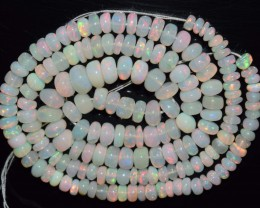 59.80 Ct Natural Ethiopian Welo Opal Beads Play Of Color