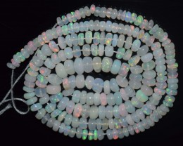 37.20 Ct Natural Ethiopian Welo Opal Beads Play Of Color
