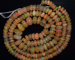 44.50 Ct Natural Ethiopian Welo Opal Beads Play Of Color