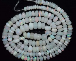 38.40 Ct Natural Ethiopian Welo Opal Beads Play Of Color