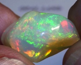 9.70 ct Ethiopian Gem Color Carved Freeform Welo Opal
