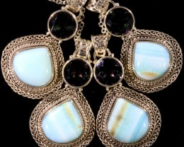 164.10 PERU BLUE OPAL PENDANT PARCEL -FACTORY DIRECT[SOJ6105]