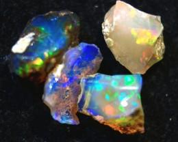Tot.Cts 3.90  4 stones   RD 396  Rough Ethiopian Wello Opal      Gem Grade