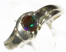 Cute Opal   Boulder set in Silver Rings CF1710