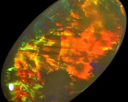 4.55 CTS SEMI BLACK OPAL GREY BASE LIGHTNING RIDGE [LRO124]SAFE