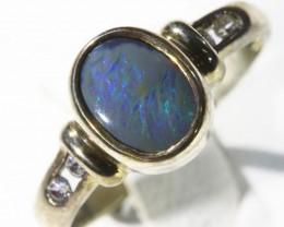 Cute Opal   boulder set in Silver Rings CF1711