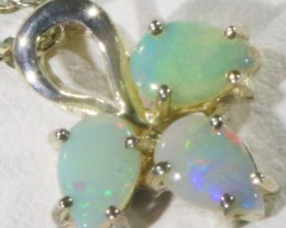 Crystal Opal set in sterling silver pendant  CF1715 -1716