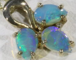 Crystal Opal set in sterling silver pendant  CF1716