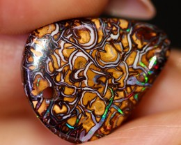 11.1 CTS DRILLED YOWAH BOULDER OPAL STONE BB183