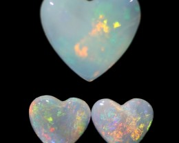 3.79 CTS LOVE HEART CRYSTAL OPAL PARCEL BB193