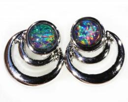 Gem Opal Triplet set in S Earring CF1746