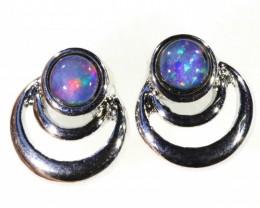 Gem Opal Triplet set in  Earring CF1747