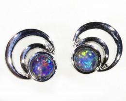 Gem Opal Triplet set in  Earring CF1751