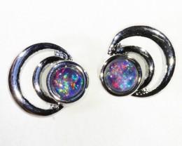 Gem Opal Triplet set in Earring CF1752