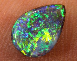 1.15ct 9x6.5mm Pipe Wood Fossil Boulder Opal  [LOB-989]