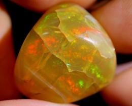 NR~ 30.75cts Red Fire Ethiopian Welo Specimen Crystal Opal