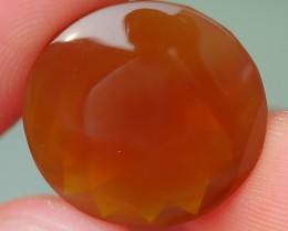 7.95 CRT BEAUTY BROWN BASE FACETED INDONESIAN FIRE OPAL