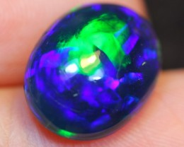 NR Auction~ 3.43ct Bluish Green Broadflash Ethiopian Welo Smoked Polished O