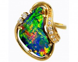 """CERTIFIED"" RING FROM QUILPIE OPAL COLLECTION"