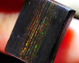 9.65 CRT RAINY FIRE LASER COLOR POLISHED WOOD FOSSIL INDONESIAN OPAL