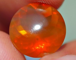 3.60 CRT CLEAR BROWN FACETED INDONESIAN FIRE OPAL