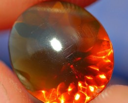 1.75 CRT DARK BROWN CLEAR FACETED INDONESIAN FIRE OPAL