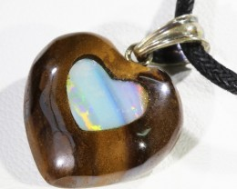 Heart love  Opal Boulder Inlay set in Pendants CF1776