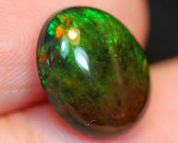 NR Auction ~ 2.73ct Green Color Play Ethiopian Welo Smoked Polished Opal