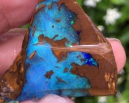 BRIGHT BLUES OPAL BOULDER 26 X 17 MM ME463[OA]