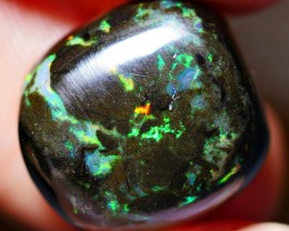 8.40CRT WOOD OPAL NICE POLISHED PLAY COLOR INDONESIAN OPAL