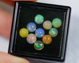 NR Auction ~ 3.48ct Round 5mm Welo Opal Parcel Lot