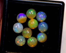 NR Auction ~ 3.24ct Round 5mm Welo Opal Parcel Lot