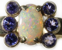 9 SIZE STUNNING SOLID OPAL WITH 6 TANZANITES [SOJ5439]
