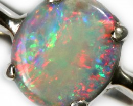 13.00 CTS SOLID OPAL FROM LIGHTNING RIDGE SET IN SILVER [SOJ5442]