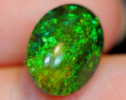 No Reserve~  2.88cts Sparkle Greenish Ethiopian Welo Smoked Polished Opal