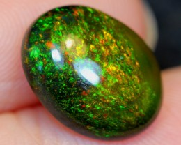 No Reserve~  2.67cts Beautiful Greenish Flash Ethiopian Welo Smoked Polishe