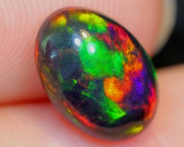 No Reserve~  1.45cts Splendid Yellow Red Ethiopian Welo Smoked Polished Opa