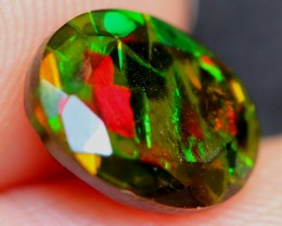 NR~  1.09Ct Yellow Green Ethiopian Welo Smoked Faceted Opal