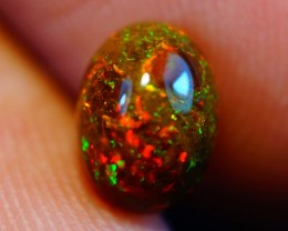 7x5 MM  BEAUTIFUL FLASHY MULTI COLOR WELO CABOCHON OPAL-AB173