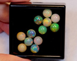 NR~ 16.83ct Round 8mm Welo Opal Parcel Lot
