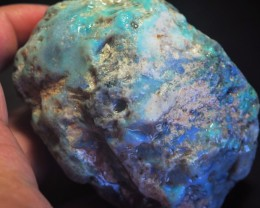 864CT VIEW ROUGH FOR CARVING BLACK OPAL GM336
