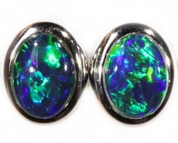 1.70 CTS GEM TRIPLET OPAL EARRINGS [SOJ6149]SH