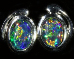 1.70 CTS GEM TRIPLET OPAL EARRINGS [SOJ6151]SH