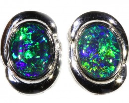 4.00 CTS GEM TRIPLET OPAL EARRINGS [SOJ6152]SH