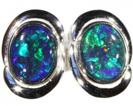 4.00 CTS GEM TRIPLET OPAL EARRINGS [SOJ6154]SH